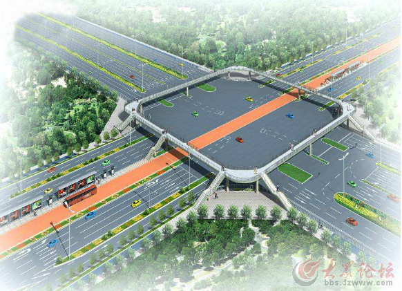 二:綠化帶設計   在城市交通道路中,由于車速高,綠化帶設計應最大