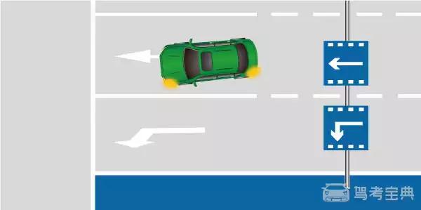 如图所示,驾驶机动车行驶至此位置时,以下做法正确的是什么?