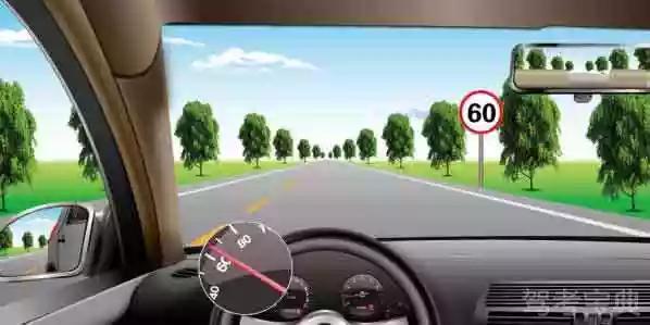 如图所示,在这种情况下,您应该轻踩制动踏板减速。