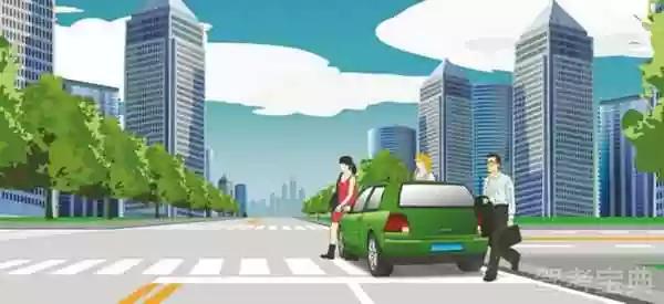 这辆小轿车不能在这个位置停车。