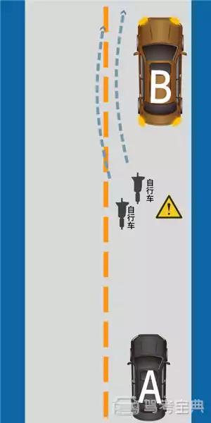如图所示,A车正确的做法是什么?