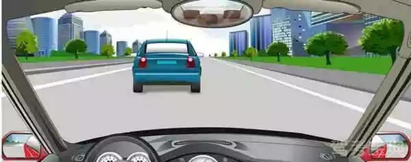 遇到这种情况下可以从右侧超车。
