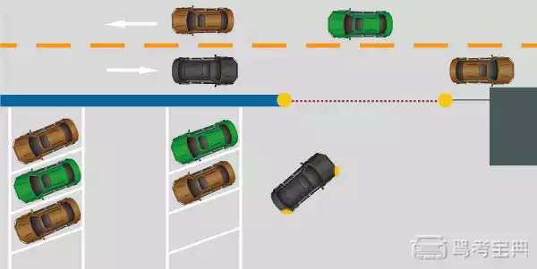 如图所示,驾驶机动车驶离停车场进主路时,以下做法正确的是什么?