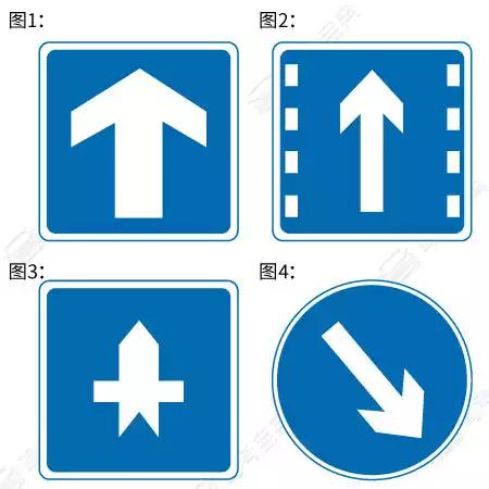 以下交通标志表示单行线的是哪一项?