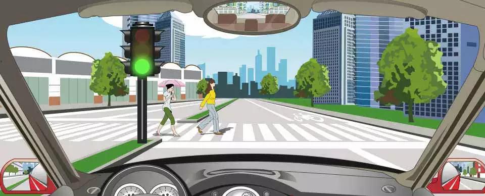 驾驶机动车在这种情况下怎样礼让行人?