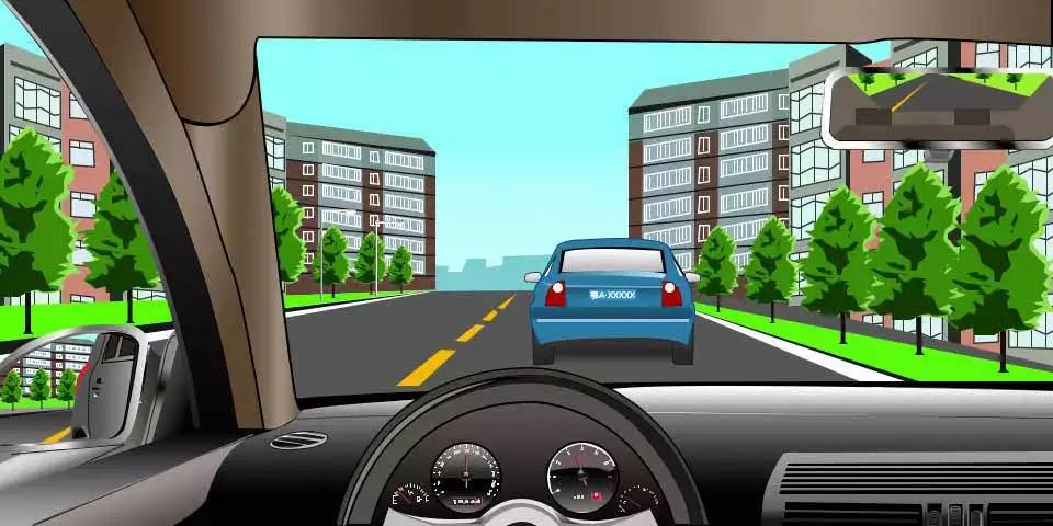 如图所示,驾驶机动车遇到前方道路中间有停驶车辆时,以下可能出现的危险情形有哪些?