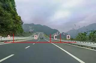 当高速公路上车辆发生故障时,人员应当疏散到下图哪个位置。