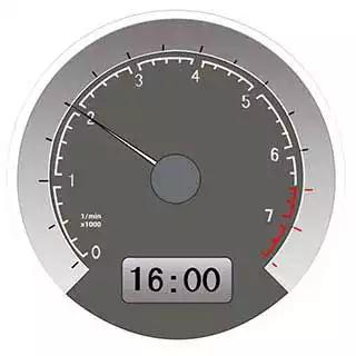 仪表显示当前车速是20公里/小时。