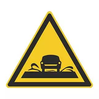 这个标志的含义是提醒车辆驾驶人前方是过水路面或漫水桥路段。