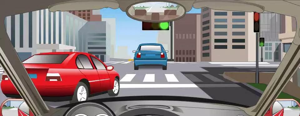 驾驶机动车在拥堵的路口遇到这种情况怎样处置?