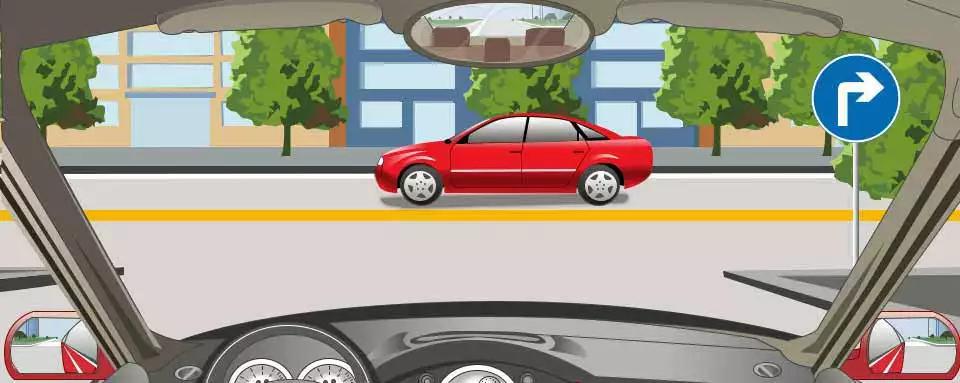 右侧标志表示车辆只能向右转弯。