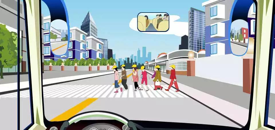 驾驶机动车遇到这样的情况要提前减速或停车让行。