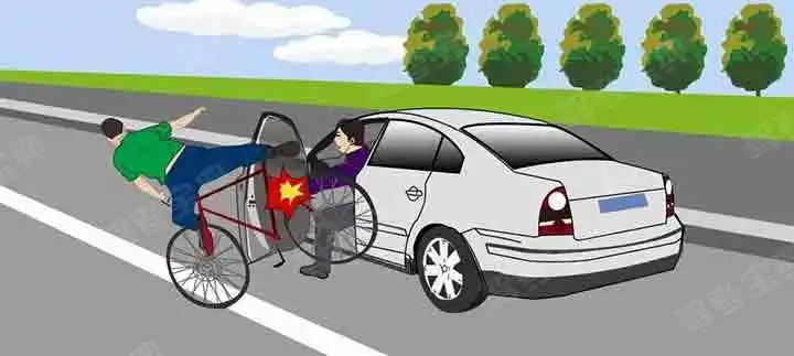 这辆小型汽车驾驶人错在哪里?